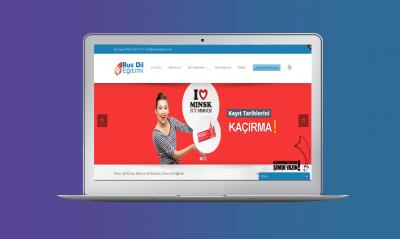 Rus dil eğitimi web site tasarım